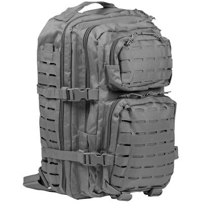 Mil-Tec US Assault Pack Large Laser Cut MOLLE Outdoor Patrol Backpack Urban Grey