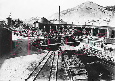 Denver & Rio Grande Western (D&RGW) Salida Roundhouse/Turntable in 1908 - 8x10