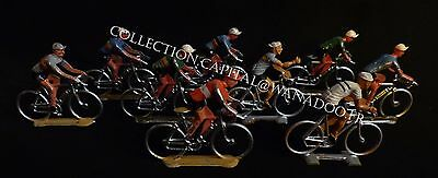 Tour de France Aluminium Etat d'origine Lot de 10 figurines cyclistes
