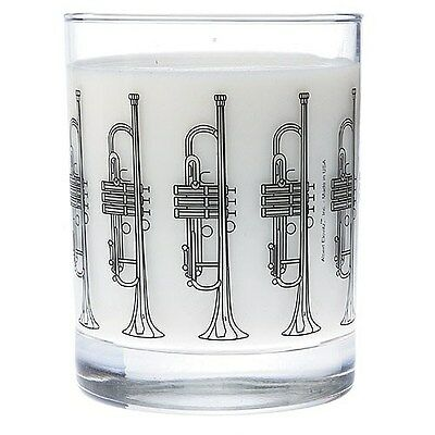 Clear Glass Tumbler: Trumpet.