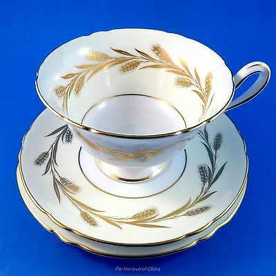 Shelley Golden Harvest Tea Cup, Saucer and Plate Trio Set
