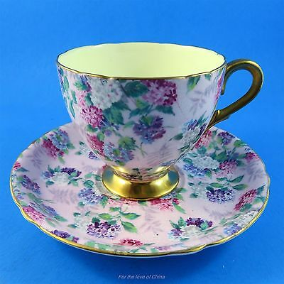 Striking Hydrangea Chintz Summer Glory Shelley Tea Cup and Saucer Set