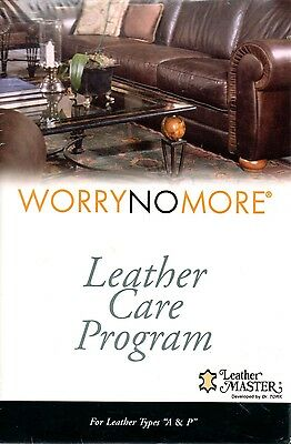 "Worry No More Leather Care Program (for Leather Types ""A & P"")"