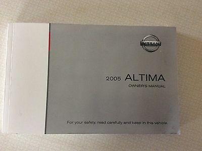 2005 Nissan Altima Owners Manual FREE SHIPPING TO USA AND CANADA