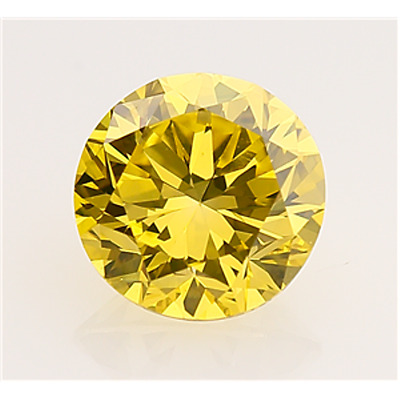 3.00 Ct Moissanite Canary Yellow Vvs1 Loose Round 9.50 Mm. Fancy