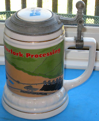 Antique Coal Mining Marfork Processing Beer Stein--Made In Brazil--Vintage