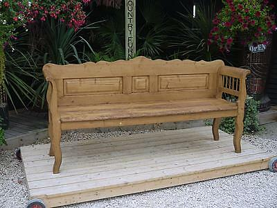 Wow! Large Old Antique Victorian/edwardian Pine Hungarian/monks Bench/settle/pew