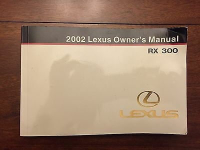 2002 Lexus RX300 Owners Manual FAST FREE SHIPPING