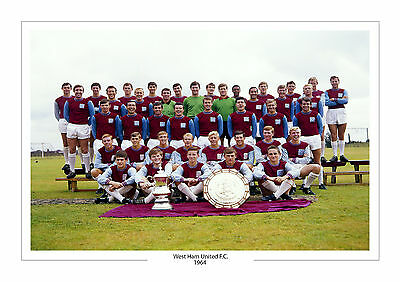 1964 Team Photo West Ham United A4 Print Photo Trophy