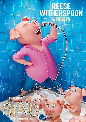 Sing - A4 Glossy Poster -TV Film Movie Free Shipping #364