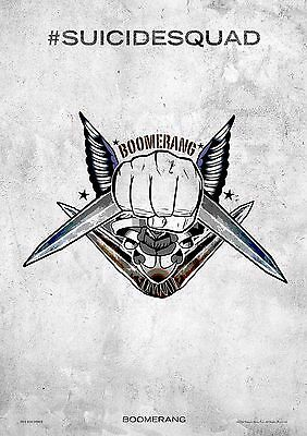 Suicide Squad Boomerang - A4 Glossy Poster -TV Film Movie Free Shipping #385