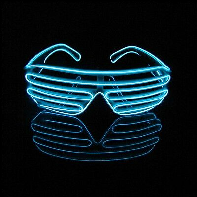 Lerway Neon El Wire LED Light Up Slotted Shutter Fun Cool Glasses Eyeglasses ...