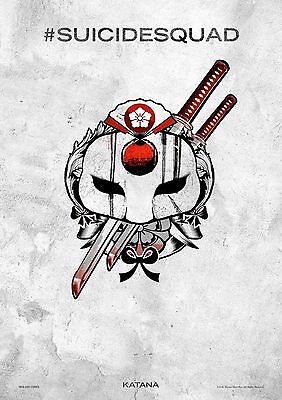 Suicide Squad Katana - A4 Glossy Poster -TV Film Movie Free Shipping #387