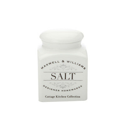 NEW Maxwell & Williams Cottage Kitchen Salt Canister 0.5L (RRP $15)