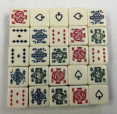 25 Six Sided Poker Dice Brand New W/O Dice Cup Fun Times with 25 Poker Dice *