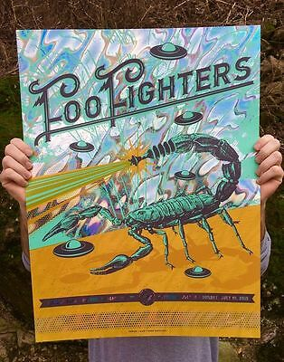 Foo Fighters Fenway Park Boston 2016 Art Poster Print Lava Foil Variant