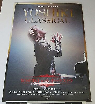 YOSHIKI Japanese PROMO ONLY official TOUR POSTER 2017 - X JAPAN (band)