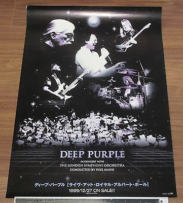 DEEP PURPLE original JAPAN PROMO ONLY 1999 release poster OFFICIAL more listed