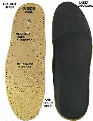 Orthopedic Anti Shock Soft Leather Insoles