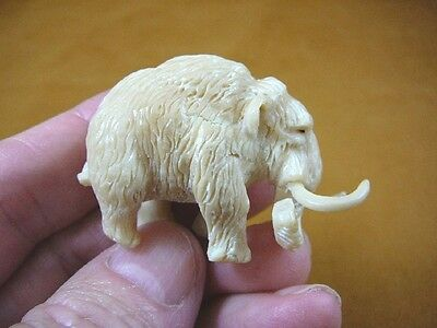 (tb-woolly-3) little Woolly Mammoth Tagua NUT palm figurine Bali carving
