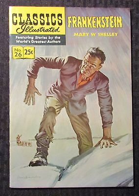 1971 CLASSICS ILLUSTRATED #26 VF- 7.5 Mary Shelly Frankenstein