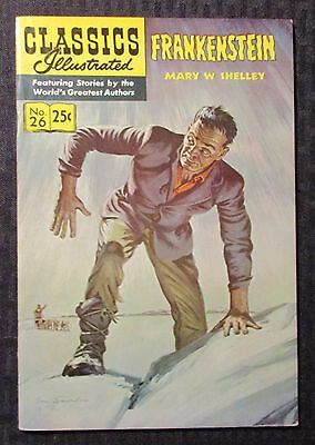 1971 CLASSICS ILLUSTRATED #26 FVF 7.0 Mary Shelly Frankenstein