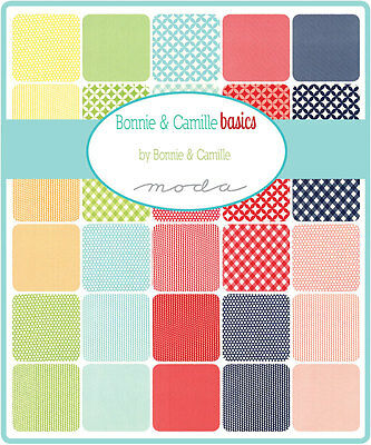 Patchwork/quilting Fabric Moda Charm Squares/packs - Bonnie And Camille Basics