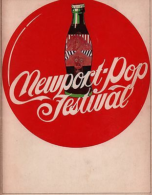 Grateful Dead / Jefferson Airplane 1968 Newport Pop Festival Program / Ex 2 Nm