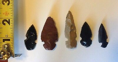 Lot of Arrowheads Obsidian and others