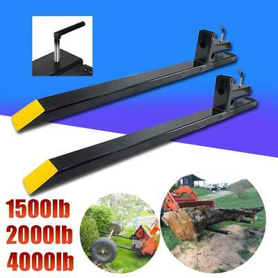 Clamp on Pallet Forks 1500lb/2000lb/4000lb Capacity Loader Bucket Tractor Chain