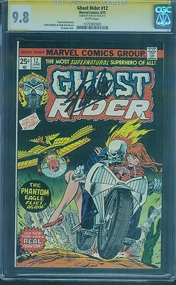 Ghost Rider 12 CGC SS 9.8 Stan Lee Top 1 Signed White Pgs Gil Kane Frank Giacoia