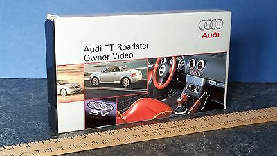 Audi TT ROADSTER 2000 Owners Video VHS Tape NTSC Nice Condition Free Shipping