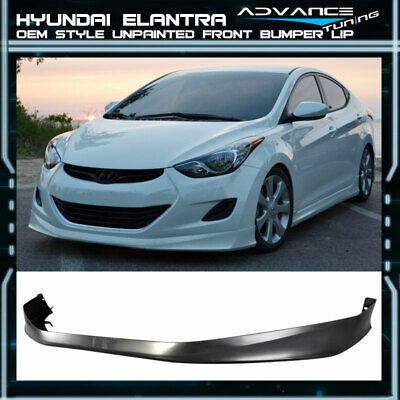 Fits:11-13 Hyundai Elantra MD 4Dr Only OE Style Polypropylene Front Bumper Lip