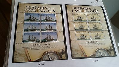British Indian Ocean Territory 2009 Sg Ms402  Seafaring & Exploration Sheet Mnh