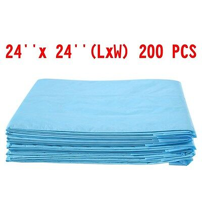 200PCS 24'' x 24'' Puppy Pet Dog Cat Pads Wee Pee Piddle Pad Training Underpads