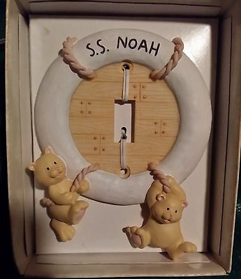 Russ Berrie Baby Noah's Menagerie Light Switch Switchplate Cover