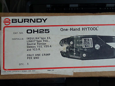 Burndy OH25 One-Hand HYTOOL - NEW