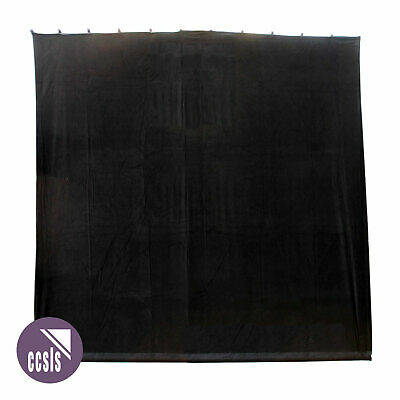 Bravo 3M X 3M Black Cotton Velvet Stage Curtain - Flat _ 33B