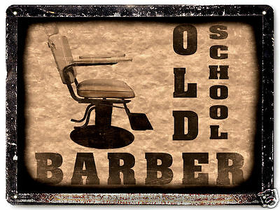 BARBER SHOP hair salon VINTAGE style METAL SIGN funny OLD SCHOOL wall decor 005