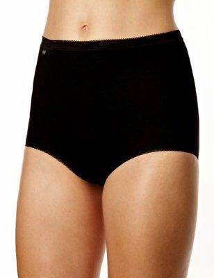 Sloggi Womens Basic+ Maxi Briefs Cotton with Lycra Freefit X-Move (4 Pack)