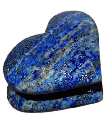 Lapis Lazuli Stone Carved A+++ 2 Inch Double Heart Shape Loose Gemstone