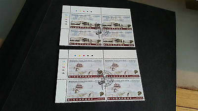 Singapore 1996 Sg 854-855 Joint Issue Block Of 4 1St Day Of Issue Stamped