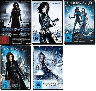 Underworld - Teil 1+2+3+4+5 (1-5) DVD Set - inkl. Blood Wars - NEU OVP
