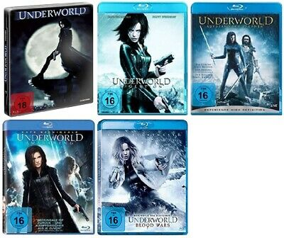 Underworld - Teil 1+2+3+4+5 (1-5) Blu-ray Set - inkl. Blood Wars - NEU OVP