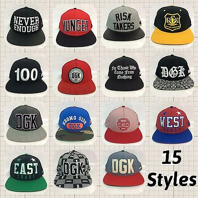 Genuine DGK Sample 6 panel Snapback caps  new without tags
