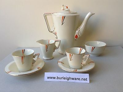 BURLEIGH COFFEE FOR TWO, ART DECO, Free Postage