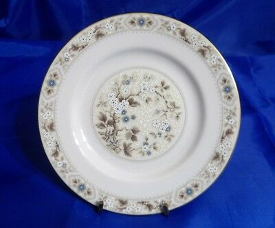 ROYAL DOULTON Mandalay #TC1079 Bread & Butter Plate - Tan, Blue&White Flowers