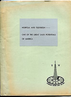 "1951 Original Market Report: ""NORFOLK AND TELEVISION"" [Includes WTAR-TV]"