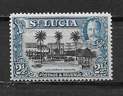 ST. LUCIA , 1936 , KING GEORGE V , 21/2p STAMP  , PERF , MNH
