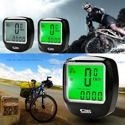 Waterproof  Backlight LCD bike Bicycle Computer Odometer Speedometer FT